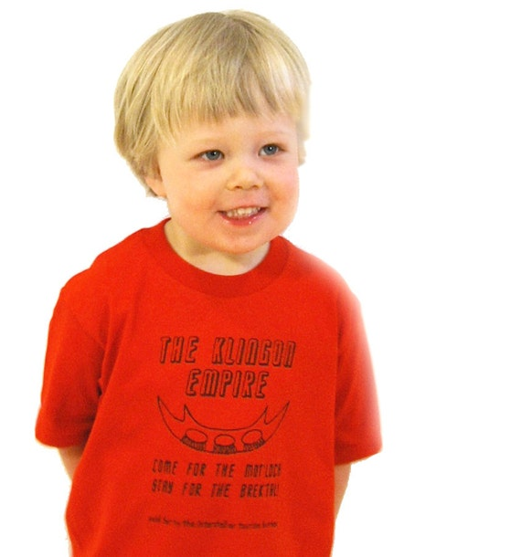 Klingon Empire- Star Trek Inspired Toddler Tee- Pick Your Size
