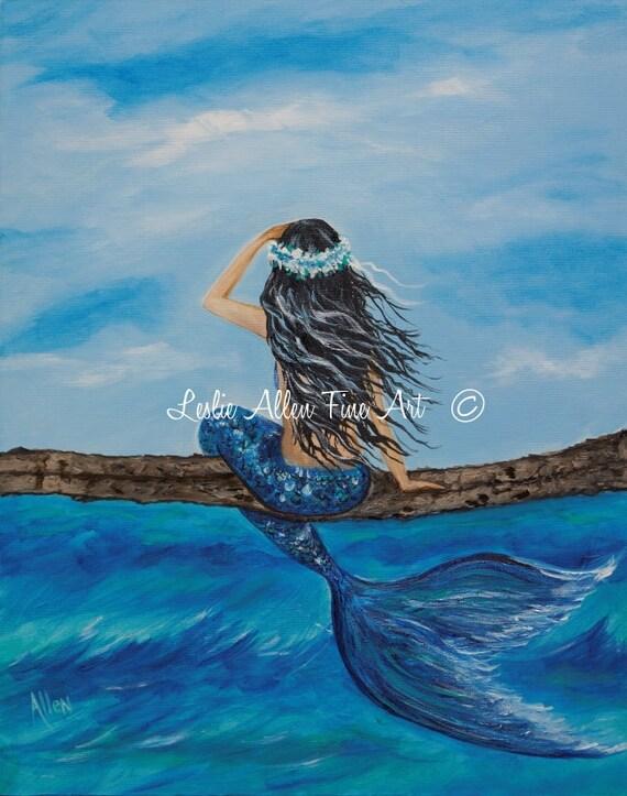 Realistic Mermaid Acrylic Paintings
