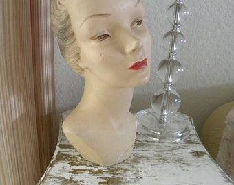 Gorgeous Vintage Store Display Mannequin Head