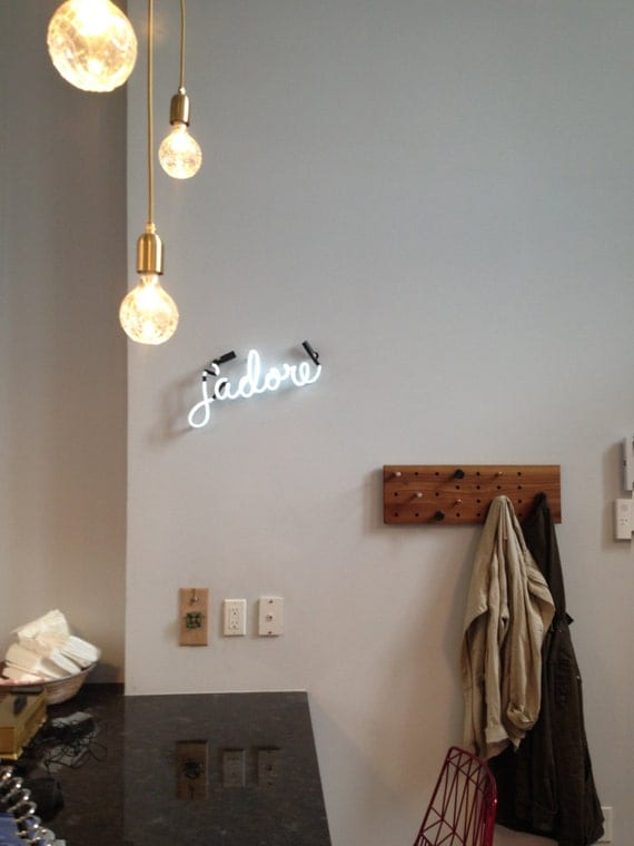 j'adore Neon Sign, Ready-made