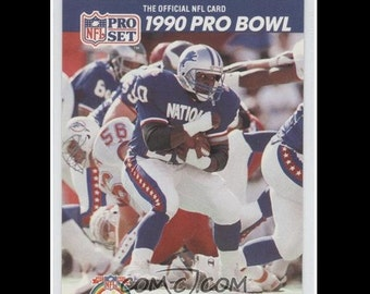 1990 BARRY SANDERS Pro Set Pro Bowl Official NFL Football Card
