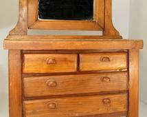Vintage Salesman Sample Dresser Antique Dresser Doll Dresser Miniature Dresser Jewelry Box