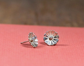 Sterling Flower Studs- Free Shipping