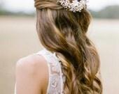 SONNET pearl bridal headpiece, bohemian inspired