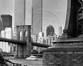 Twin Towers, Brooklyn Bridge, New York City, NYC