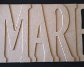 5 Letter NAME/WORD Personalized Bare Chipboard Album (Do It Yourself) 5pc