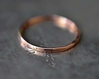 14k rose gold simple band