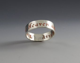 Color Inlay Name or Phrase Ring- custom made to order