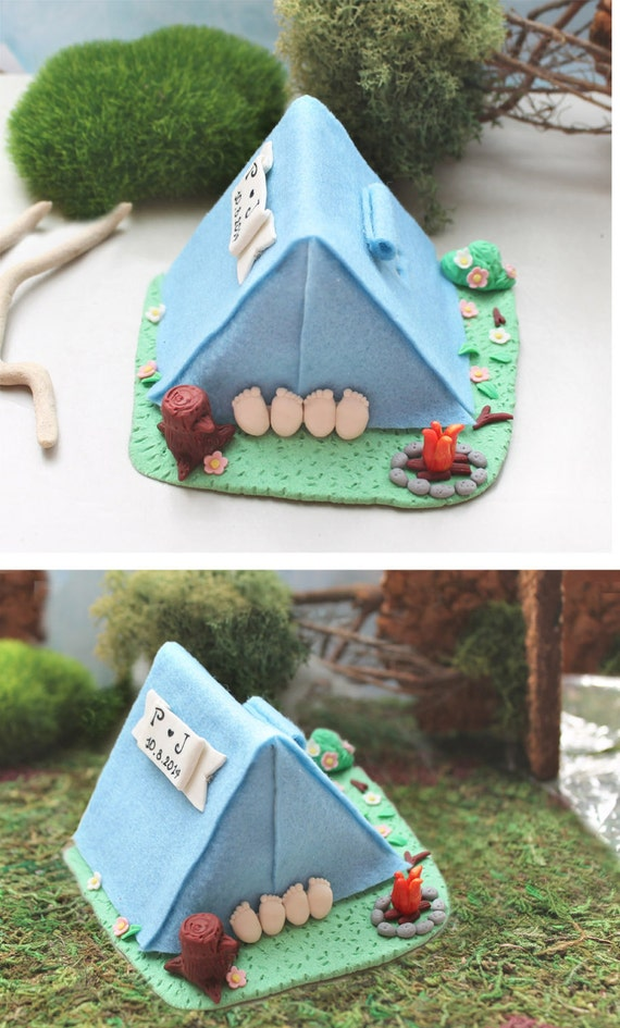 Camping Tent Cake Topper