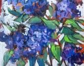 Lilacs, original artwork, ships FREE in the US