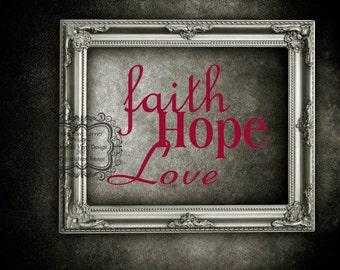 Faith Hope Love-Vinyl Decal