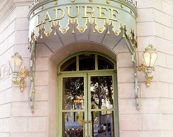Paris Photography, Laduree Door Prints, Paris Laduree Door Art, Laduree Art, French Macaron Tea Shop, Paris Laduree Door, Paris Doors Prints