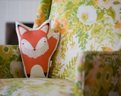 Fox Pillow, Fox Toy, Stuffed Fox, Handmade Fox Pillow, Scandinavian Fox, Modern Nursery Decor. Gifts for Kids Under 50. Baby Shower Gift.