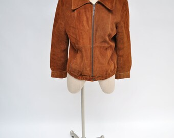 1970s vintage leather jacket womens vintage clothing suede jacket almost famous bomber