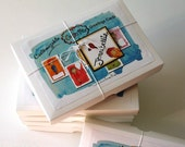 Boxed Set of 5 Customizable Cutie Pie Greetings Card by Jennibellie