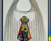 Superman bib ready to personalize