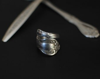 Modern Spoon Ring Coil, Choose Your Style, Custom Made