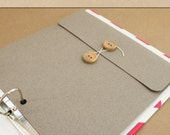 Keepsake Envelope - Felt Grey -  Include in your Two Giggles Baby Album