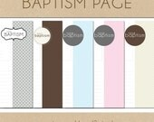 Baptism Page  - Include in your Two Giggles Baby Album