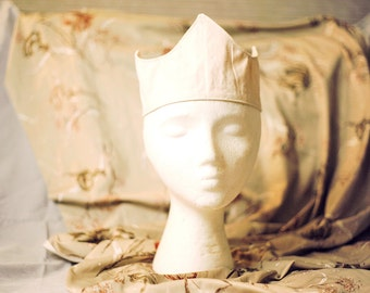 SALE! Cream Crown with Grey Gray Laces (ADULT SIZE) Tiara