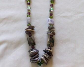 wampum necklace with crazy horse pendant