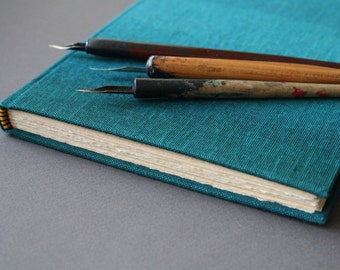 Turchese - hardback sketchbook in turquoise ombre, A5