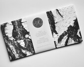6 eco-friendly BIRCH BARK envelopes (incl. address labels, classy DL format)