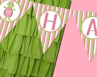 Turtle Girl Banner Party Printable - Stick to Your Story