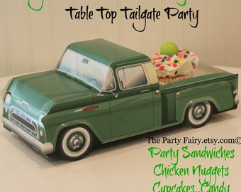 food truck box 6 vintage green food box trays tailgate party vintage wedding