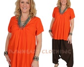 SunHeart Clothing goddess Tangerine Tie Top One Size Small Medium Large CLEARANCE SALE