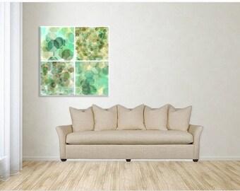 Beautiful Spring Bokeh Wall Grouping Pastel Decor Breezy Artwork Office Bedroom Living