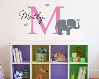Elephant Wall Decal Etsy - Elephant wall decal