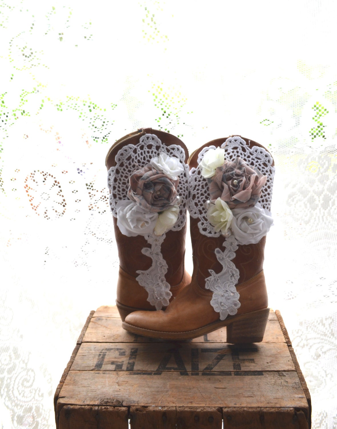 boot sale vintage dingo cowboy boots shabby barn chic