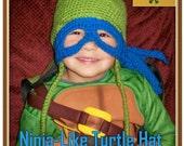 Ninja-Like Turtle Hat Crochet Pattern PDF - INSTANT DOWNLOAD.