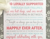 PRINTED Wedding Reception Thank You Cards- Coral and Light Aqua - Style TY27  | Wedding Thank You | Fun Thank You | Teagan Thank You