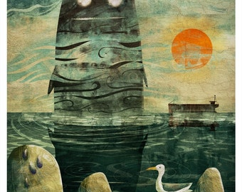 The Sea Monster - Signed Print from The Cruel and Curious Sea Exhibition