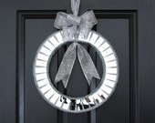 Mirrored Wreath,  Silver Mirrored Wreath