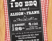 I Do BBQ Couple Wedding Shower Invitation