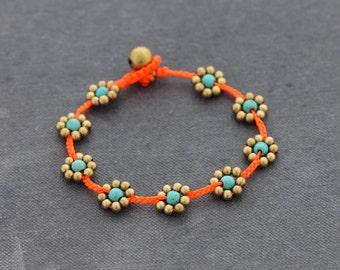 Fluorescent Flower Summer Bracelet