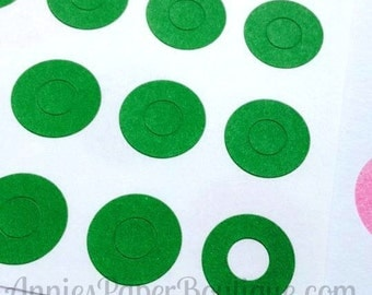 144 Green Circle Reinforcements - Labels, Stickers - Hole Reinforcements