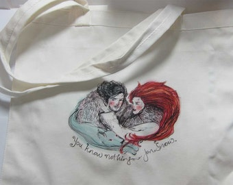 Game of Thrones Cotton Tote Bag Jon Snow & Ygritte