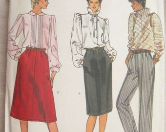 Very Easy Vogue 8086 Skirt and Pants Vintage Sewing Pattern