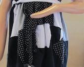 Dot patchwork dress small