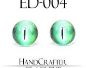 1 pairs - 12mm Handmade glass eyes Monster Eyes Dragon Eyes Glass Cabochons ED-004 NO WASHER