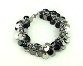 Chainmaille Jewellery, Shaggy Tags, Shaggy Charms, Black, Silver