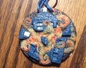 Van Gogh Tardis Explosion Ornament (Round)