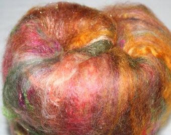 ART Batt, Autumn Fires 3.5 oz Textured, spinning, felting Batt