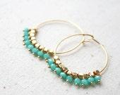 Boho Hoop Earring, Bohemian Jewelry, summer earrings