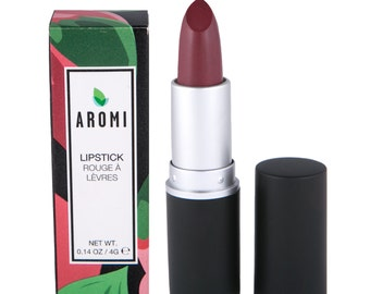 Crimson Lipstick.  Dark Maroon Lipstick.  Vegan & Cruelty-Free Lipstick.  Maroon-Plum Lipstick.  Woman's Gift.