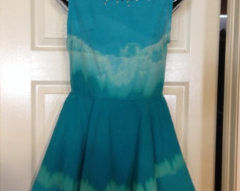 Ready to ship- Bleached Belle skater dress size XS full circle skirt